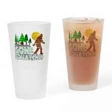Distressed Original Gone Squatchin  Drinking Glass