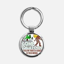 Distressed Original Gone Squatchin  Round Keychain