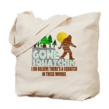 Distressed Original Gone Squatchin Design Tote Bag