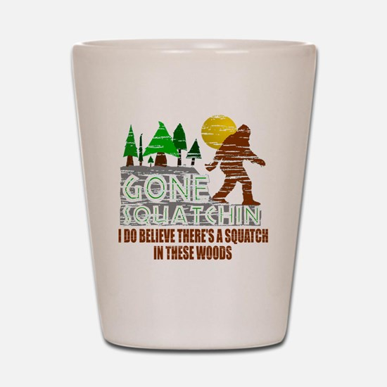 Distressed Original Gone Squatchin Desi Shot Glass