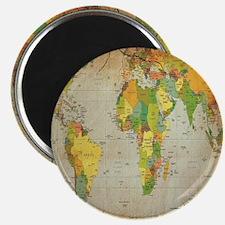 world map shower curtain Magnet