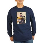 Japanese Art Long Sleeve Dark T-Shirt