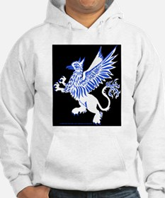Graphic Gryphon Blue White Hoodie