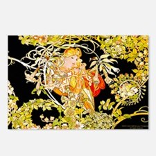 Laptop Mucha Color Margue Postcards (Package of 8)