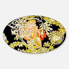 Laptop Mucha Color Marguerite Sticker (Oval)