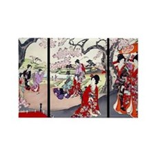 Laptop Cherry Blossom Time Chikan Rectangle Magnet