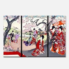 Laptop Cherry Blossom Tim Postcards (Package of 8)