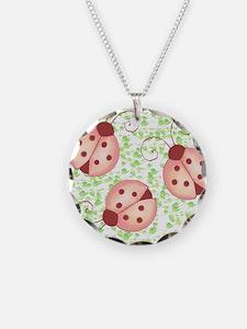 ladybug shower curtain Necklace