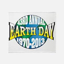 earth52013Wblack Throw Blanket