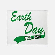 earth62013Wblack Throw Blanket