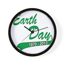 earth62013Wblack Wall Clock