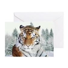 Snow Tiger Greeting Card