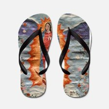 Our Lady of Guadalupe (Papyrus Ver.) Flip Flops