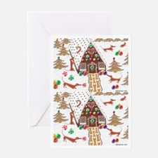 Gingerbread Dachshunds Greeting Card