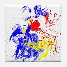 Primary Splatter Tile Coaster