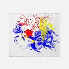 Primary Splatter Throw Blanket
