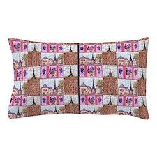Paris wood grapes pointillism 3 Pillow Case