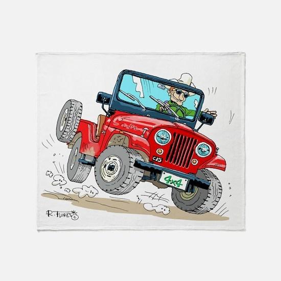 Willys-Kaiser CJ5 jeep Throw Blanket