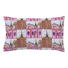Paris wood grapes pointillism 1 Pillow Case