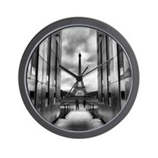 Eiffel tower viewed from wall for peace Wall Clock