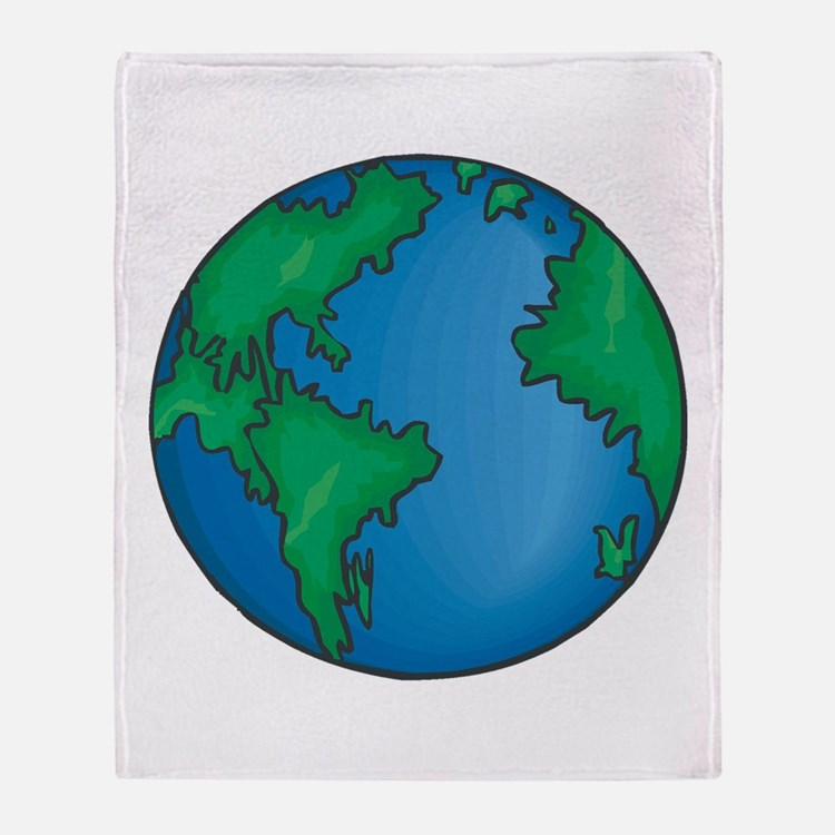 earth272013coloredT Throw Blanket