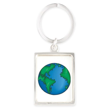 earth272013coloredT Portrait Keychain