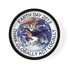 earth432013lightT Wall Clock
