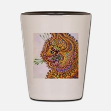 Louis Wain Vintage Fantasy Cat Wallpape Shot Glass