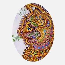 Louis Wain Vintage Fantasy Cat Wallp Oval Ornament