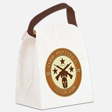 Come and Take It (Orange/Beige Ro Canvas Lunch Bag
