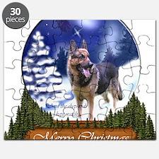 German Shepherd Christmas Puzzle