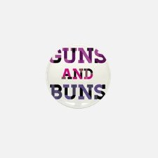 Guns and Buns Mini Button