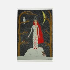 Snow Maiden (Red Version) Rectangle Magnet