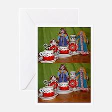 Russian Doll Tea Time Greeting Card