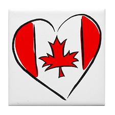I Love Canada Tile Coaster