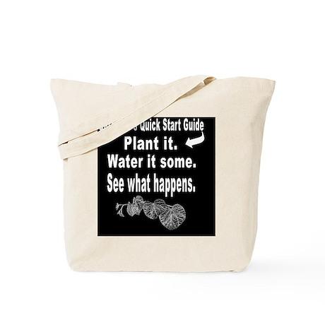 Gardeners Quick Start Guide - White Type Tote Bag