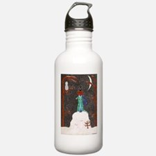 Snow Dachshund Water Bottle
