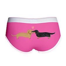 dachshund kiss Women's Boy Brief