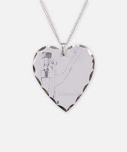 Snare Drum Necklace Heart Charm