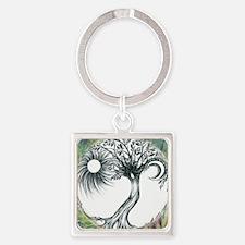 Tree of life Square Keychain