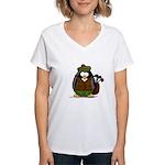 Golf Penguin Women's V-Neck T-Shirt