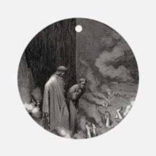 Gustave Dore - The Simonists Round Ornament