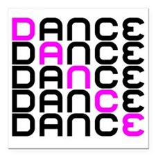 "Dance Square Car Magnet 3"" x 3"""