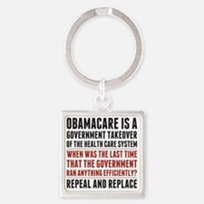 Repeal And Replace Obamacare Square Keychain