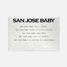Funny San jose california Rectangle Magnet