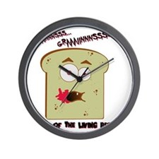Night of the Living Bread Wall Clock