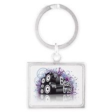 In Beats We Trust Landscape Keychain