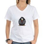 Executive penguin Women's V-Neck T-Shirt