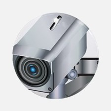 Security Camera Round Ornament