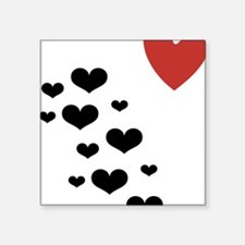 "HeartLitterLight Square Sticker 3"" x 3"""